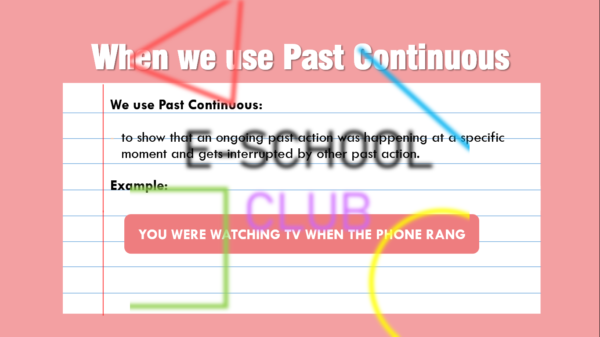 Juego past continuous
